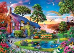 Over the Rainbow Cottage / Cabin Jigsaw Puzzle