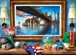 A New York View Domestic Scene Jigsaw Puzzle