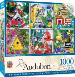 Birdhouse Village Collage Jigsaw Puzzle