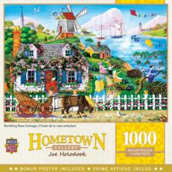 Rambling Rose Cottage Americana & Folk Art Jigsaw Puzzle