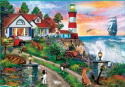 Lighthouse Keepers Seascape / Coastal Living Large Piece