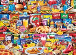 Kids Favorite Foods Sweets Jigsaw Puzzle
