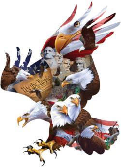 Majestic Flight Eagles Jigsaw Puzzle