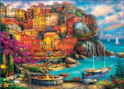 A Beautiful Day at Cinque Terre Seascape / Coastal Living Jigsaw Puzzle