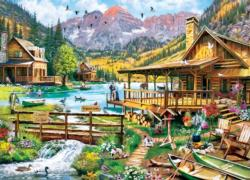 Canoes For Rent Cottage / Cabin Jigsaw Puzzle