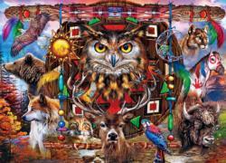 Spirit Animals Native American Jigsaw Puzzle