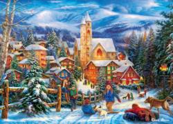 Sledding to Home Snow Jigsaw Puzzle