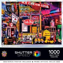 Gas Pump Heaven Americana & Folk Art Jigsaw Puzzle