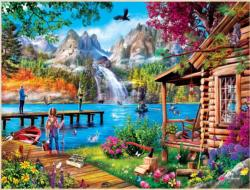 Fishing with Pappy Lakes / Rivers / Streams Jigsaw Puzzle