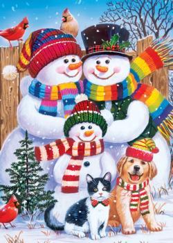 Family Portrait Christmas Jigsaw Puzzle