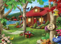 Memory Lane - Welcome to the Lake 1000pc Puzzle Cottage / Cabin Jigsaw Puzzle