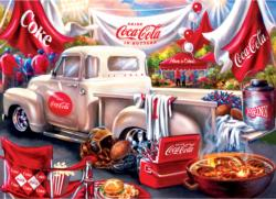Coca-Cola Tailgate Food and Drink Jigsaw Puzzle