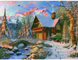 Winter Haven Cottage / Cabin Jigsaw Puzzle