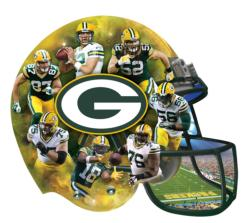 Green Bay Packers Football Shaped Puzzle