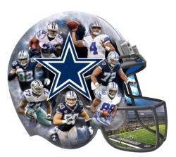 Dallas Cowboys Football Shaped Puzzle