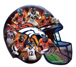 Denver Broncos Sports Shaped Puzzle