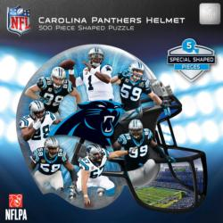 Carolina Panthers Helmet Shaped Puzzle Sports Jigsaw Puzzle
