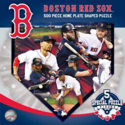Boston Red Sox  Homeplate Shaped Puzzle Sports Jigsaw Puzzle