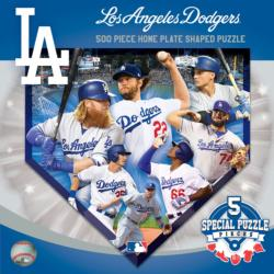 Los Angeles Dodgers Homeplate Shaped Puzzle Sports Jigsaw Puzzle