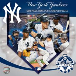New York Yankees Homeplate Shaped Puzzle Sports Jigsaw Puzzle