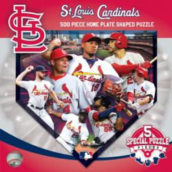 St. Louis Cardinals Homeplate Shaped Puzzle St. Louis Jigsaw Puzzle