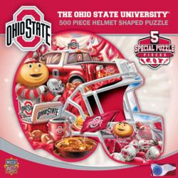 Ohio State Helmet Shaped Puzzle Sports Jigsaw Puzzle