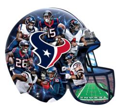 Houston Texans 500pc Helmet Shaped Puzzle Sports Jigsaw Puzzle