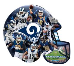 Los Angeles Rams Helmet Shaped Puzzle Sports Jigsaw Puzzle