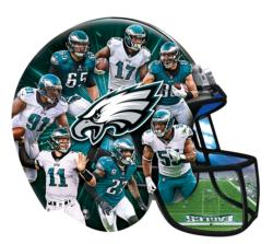 Philadelphia Eagles 500pc Helmet Shaped Puzzle Sports Jigsaw Puzzle