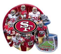 San Francisco 49ers 500pc Helmet Shaped Puzzle San Francisco Jigsaw Puzzle