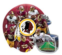 Washington Redskins 500pc Helmet Shaped Puzzle Sports Jigsaw Puzzle