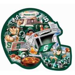 Michigan State Helmet Shaped Puzzle Football Jigsaw Puzzle