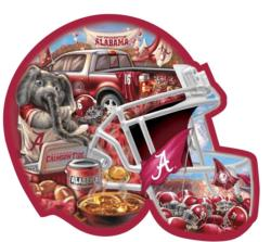 Alabama Helmet Shaped Puzzle - Scratch and Dent Sports Jigsaw Puzzle
