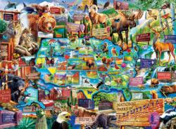 National Parks Map National Parks Jigsaw Puzzle