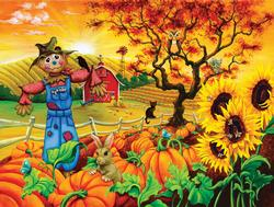 Scarecrow and Friends Fall Jigsaw Puzzle
