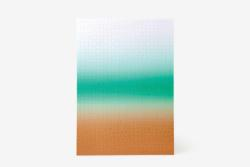 Gradient Puzzle Large (bronze/teal) Abstract High Difficulty Puzzle