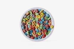Little Puzzle Thing: Cereal Food and Drink Round Jigsaw Puzzle