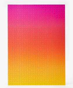 Gradient Puzzle Large (pink/yellow) Abstract Impossible Puzzle