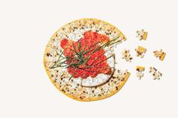 Little Puzzle Thing: Hors d'oeuvre Food and Drink Round Jigsaw Puzzle