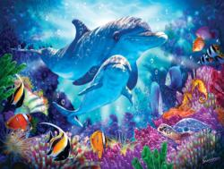 Dolphin Guardian Under The Sea Jigsaw Puzzle