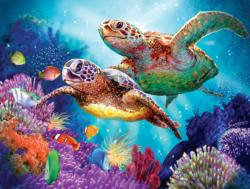 Turtle Guardian Fish Jigsaw Puzzle