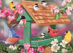 Feathers and Flowers Birds Jigsaw Puzzle