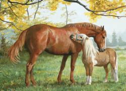 Little Higher, Please Horses Jigsaw Puzzle