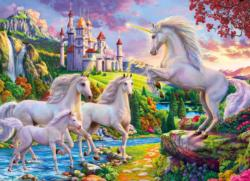 Unicorn & Castle Sunrise / Sunset Jigsaw Puzzle