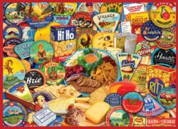 Cheese & Crackers Collage Jigsaw Puzzle