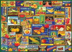 Fruits & Veggies Collage Jigsaw Puzzle