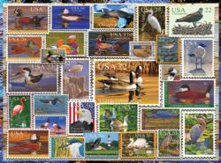 Birds of Our Shores Stamps Everyday Objects Jigsaw Puzzle
