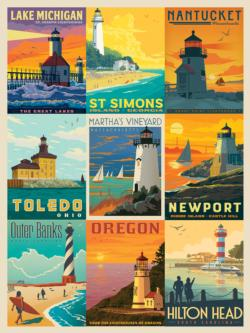 Lighthouses Collage Jigsaw Puzzle