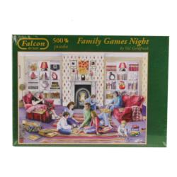 Family Games Night Domestic Scene Jigsaw Puzzle