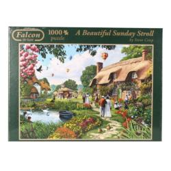 A Beautiful Sunday Stroll Cottage / Cabin Jigsaw Puzzle